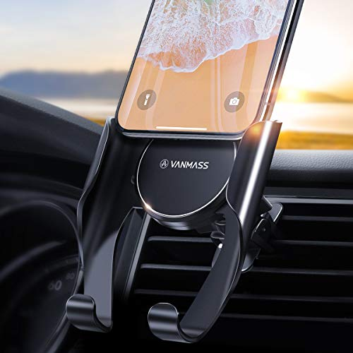 VANMASS Car Phone Holder Universal Car Vent Phone Mount Upgraded Air Vent Phone Holder for Car,0.5s Slide in&Out Cell Phone Car Mount Fit for iPhone Xs Max/XR/X/8, Samsung Note 20 10 S20 S10 S9