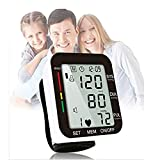 Voice Wrist Blood Pressure Monitors, Digital Automatic Measure Blood Pressure, LCD Screen Display 2 User Mode with 198 Memory Capacity Home Use