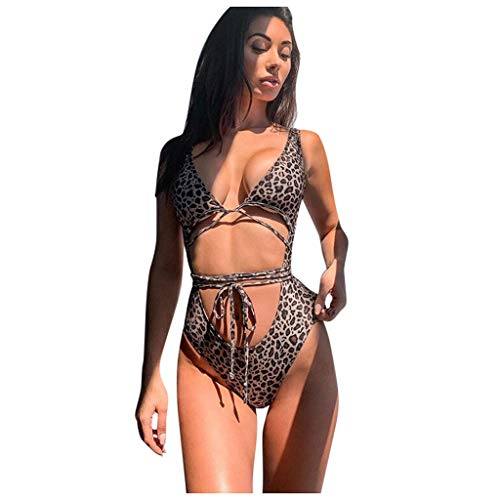 Damen Badeanzug Bandage Badeanzug Bademode Einteiler Bikini Beachwear
