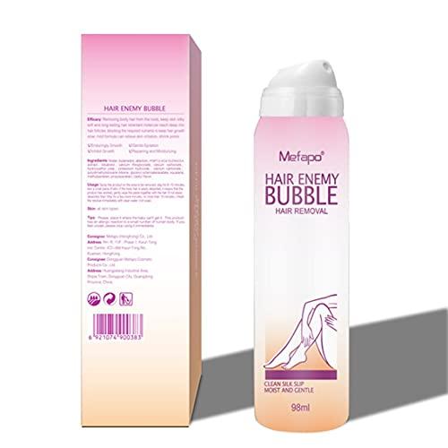 MeterBew1147 Crema de depilación indolora, espray de depilación, Cera de Burbujas, Cuerpo, Bikini, piernas, removedor de Vello, práctica Espuma de Espuma