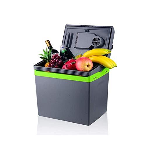 Koelkast auto, Mini koelkast 12v 220v, Warmer Cooler Portable Cool Box 2 Modes Dubbel voltage for de auto en thuis (Kleur: zwart) LOLDF1 (Color : Gray Black)