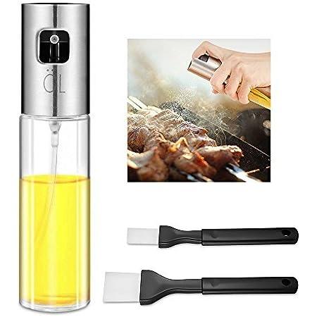 Kulmeo Oil Sprayer Bottle Olive Oil Sprayer Mister Oil Sprayer Dispenser for Cooking