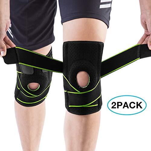 AVIDDA Kniebandage,2 Stück Kompression Knieschoner,rutschfeste Einstellbar Atmungsaktiv Unisex Knieorthese,Für Basketball und mehr Sport