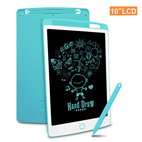 Richgv LCD Writing Tablet mit Anti-Clearance Funktion, Digital Ewriter Grafiktabletts Mini Schreibtafel Papierlos Doodle Board (10 Zoll, Blau)