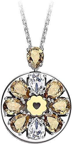 DUEJJH Co.,ltd Collar Joyería Inteligente Collar Pulsera Serie chapada en Oro de 18 Quilates con Mujeres amorosas de Color Beige-Beige