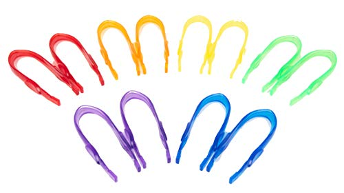 TickiT 73111 doorschijnende kleur pincet, 12 stuks. Gemakkelijke grip voor kinderen