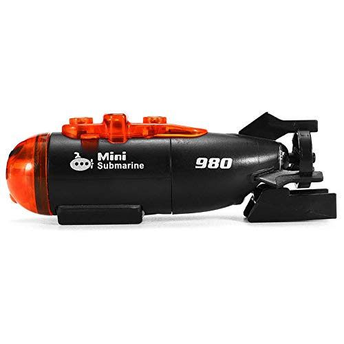 Luntus Micro-Radio Barco Nave Submarino RC de Control Remoto con Luz Led Regalo de Juguete