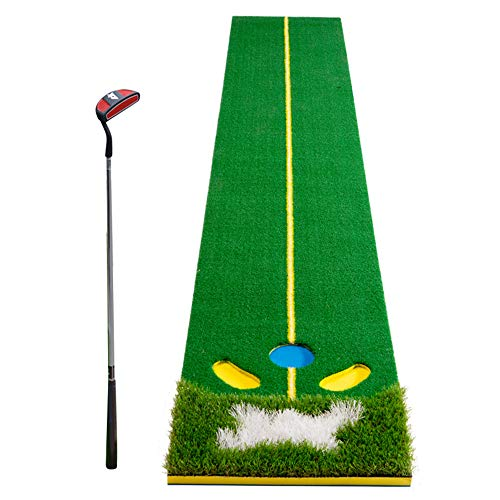 Mitrc Golf Putting Green Golf Interior Putting práctica Manta Artificial...