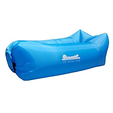 An Otter Nap Inflatable Lounge Bag Hammock Air Sofa and Pool Float for Indoor or Outdoor Hangout or Inflatable Lounger for Camping Picnics & Music Festivals