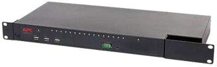 APC by Schneider Electric KVM1116R KVM Switchbox - 16 Computer(s) - 1 Local User(s) - 1 Remote User(s) - 20 x Network (RJ-45) - 2 x PS/2 Port - 5 x USB1 x VGA - Rack-mountable - 1U