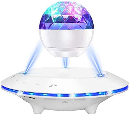 AJH Schwebender schwebender Lautsprecher, Magnetischer UFO-Bluetooth-Lautsprecher, Rotierende drahtlose Übertragung Berühren Sie die Induktions-LED für die UFO-Plattform