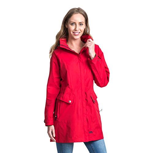 Trespass Damen Regenjacke Mit Einrollbarer Kapuze Rainy Day, Red, M, FAJKRAM20002_REDM