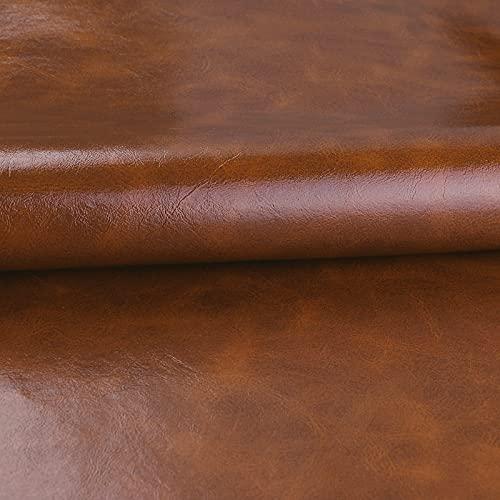 MUYUNXI Polipiel Cuero Artificial De Cuero para Tapizar Sofá Polipiel Silla Manualidades Cojines 138 Cm De Ancho Vendido por Metro(Color:Granate)