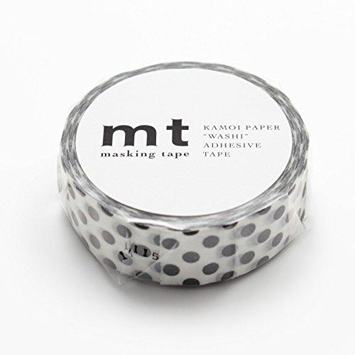 mt Patterns Washi Paper Masking Tape [autentico MT Kamoi Kakoshi/prodotto in Giappone: 3/5 in. x 33 ft. (Punto nero)