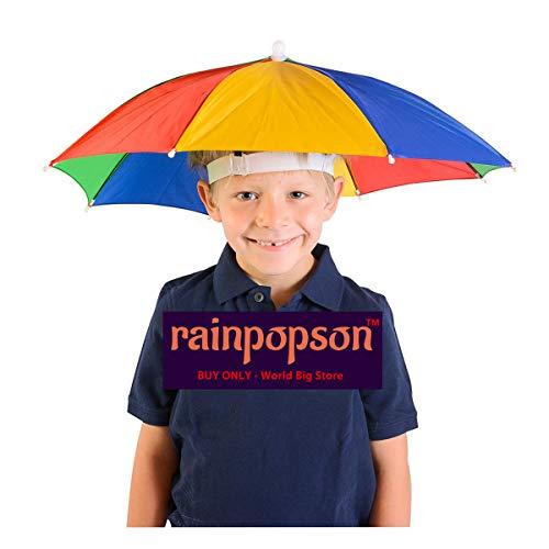 Rainpopson Kids Hat Umbrella for Rain (Multicolour)