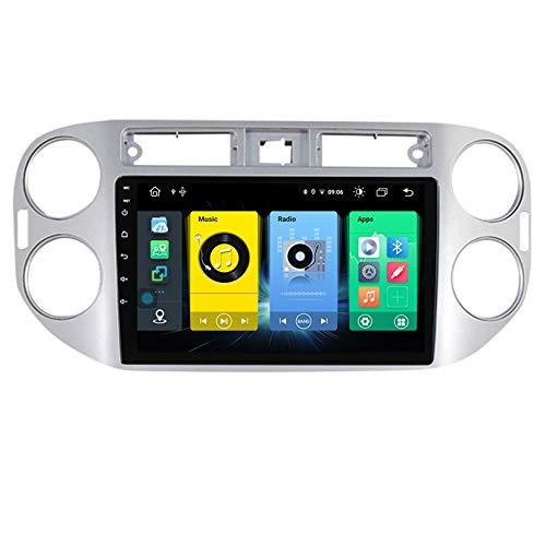 HARBERIDE Android Car Stereo Radio De Coche 9 Pulgadas Unidad Principal Reproductor Multimedia Receptor De Video Carplay para Volkswagen Tiguan 1 NF 2006-2016 Autoradio Mit Navi,C600
