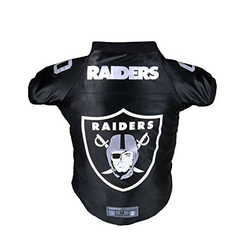 Littlearth NFL Oakland Raiders Premium Pet Jersey, Medium,Black