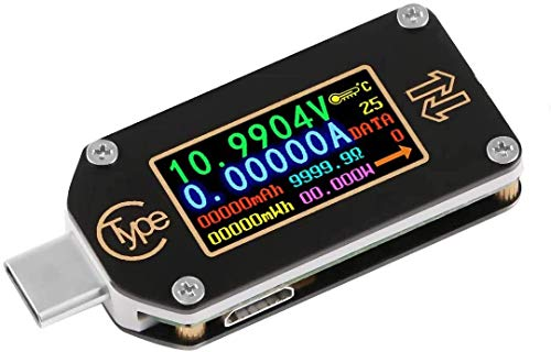 USB Power Meter, TC66C USB Tester Bluetooth Type C USB Voltage Meter and Current Tester, 0.96 Inch IPS Color LCD Display Power Tester Multimeter PD Ammeter Voltmeter QC 2.0 3.0