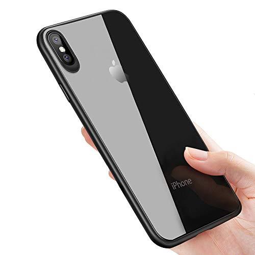 Preisvergleich Produktbild iPhone XS Handyhülle ,  iPhone X Schutzhülle ,  otutun iPhone XS Silikon Hülle Kratzfeste Ultra Dünn TPU Bumper Cover für Apple iPhone XS / iPhone X Case Cover - Jet Schwarz