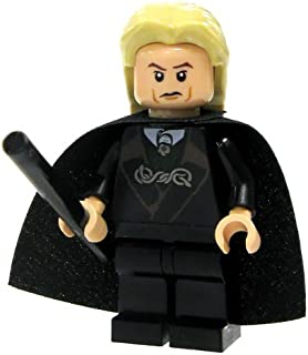 Lego Harry Potter Lucius Malfoy Minifigure with Black Wand