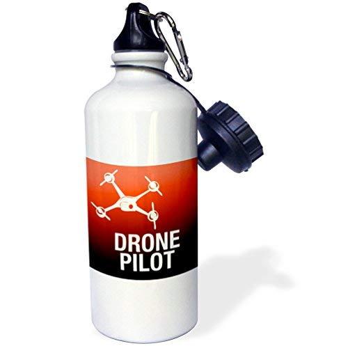 ANGELA G Rode Drone Met Ova Pilot Sport Waterfles, 21Oz, Veelkleurig