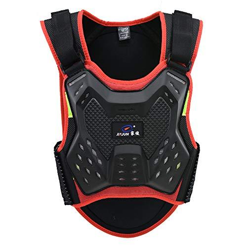 HBRT Motorrad Reiten Brust Rüstung or Motorrad Rüstung Weste Rückenprotektor Rüstung Weste für Motocross Off-Road Racing Skateboard,Red,S