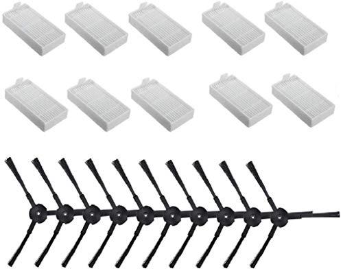 Kit de accesorios de repuesto compatible con ILIFE V3 V3s V5 V50 V5s Pro Robot Aspiradora (1 filtro HEPA+4 cepillos laterales+2 trapos de limpieza) Accesorios de aspiradora (color: estilo A)