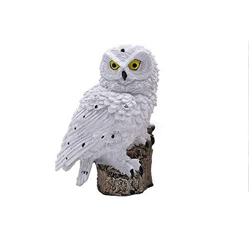 QWERWEFR Solarenergie Outdoor Garten Neuheit LED Eule leuchten Pfad Ornament Tier Vogel Outdoor Dekor Skulptur,A