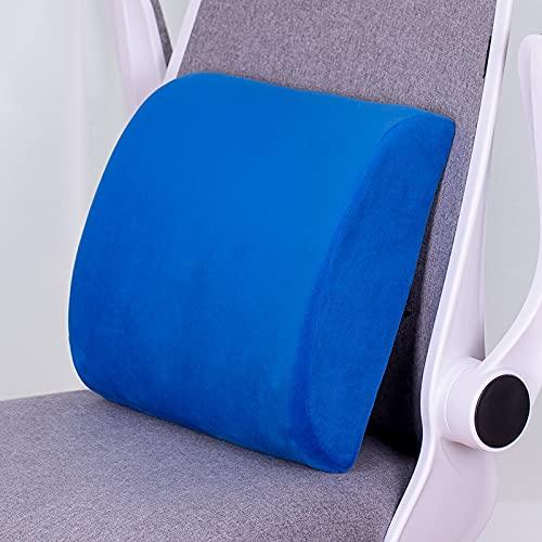 MRBJC Cojín de espuma viscoelástica para interiores y exteriores, para silla de jardín, sofá de mascotas, felpa, decoración de hogar, oficina, azul real, 32 x 31 x 10 cm
