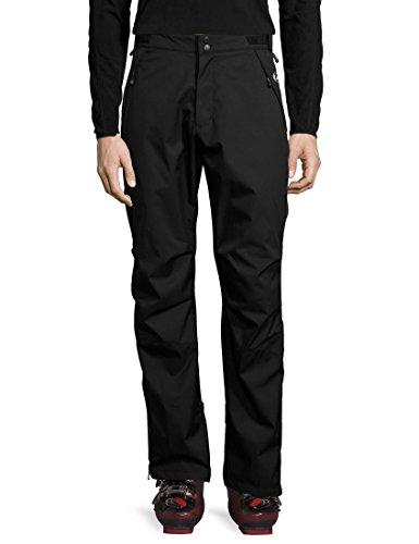 Ultrasport Basic Pantaloni di protezione da uomo outdoor Chris, pantaloni da sci di fondo da uomo, pantaloni da neve, pantaloni da pioggia, nero, M