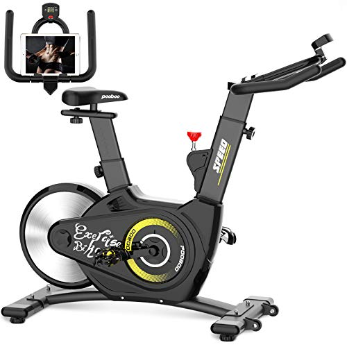 pooboo Magnetic Indoor Cycling Bike Belt Drive Exercise...