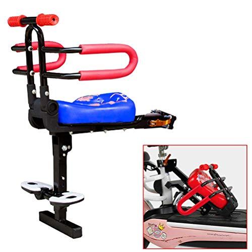 DGHJK Asiento de Seguridad para Bicicleta con Pedales de Respaldo para el Respaldo, cojín de sillín para Asiento Delantero para portabicicletas para niños, bebés