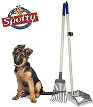 Spotty Pooper Scooper Durable Solid Wood Handle Metal Poop Tray with Rake 36.75