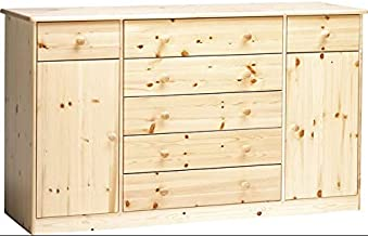 90.50-07 Como 5 cassetti in legno di pino naturale