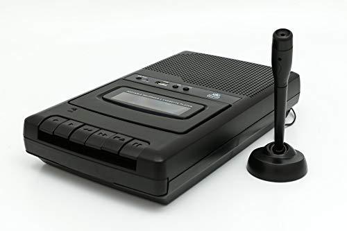 GPO CRS132B - Registratore a cassetta con microfono esterno e registrazione USB