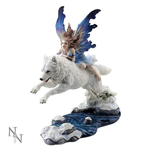 Nemesis Now Free Spirit - Figura Decorativa (31 cm, 27 cm), Color Blanco