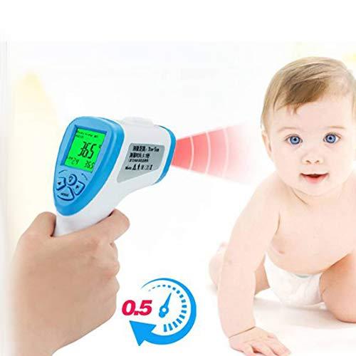 Aanraakloze digitale temperatuur-bel, temperatuur-gun, LCD-display voor lichaam en kamertemperatuur