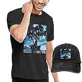 Thimd Camiseta de Manga Corta para Hombre,Gorra de béisbol Combinación Negro Shinedown Leave A...