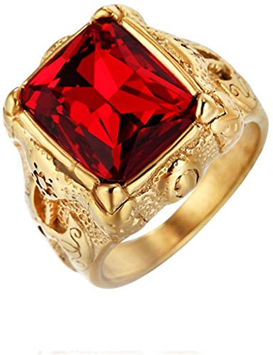 NA Herren Vintage Titan Stahl Stahl Ringe, Viking Warrior's Ringe