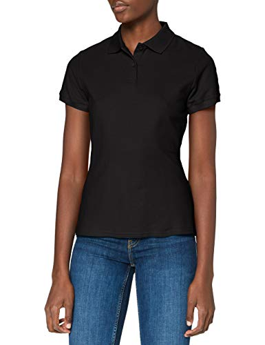 Fruit of the Loom Ss078m - Polo Mujer, negro, X-Large