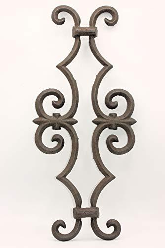 UHRIG ® Ornament schmiedeeisen Rosenstab Stahl Eisenguss für Zaun Fenstergitter #634