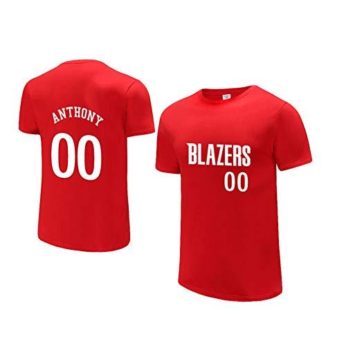 Carmelo Anthony 00 Blazers Basketball Jerseys, heren T-Shirts Competitie Sportkleding Basketbal Sportkleding