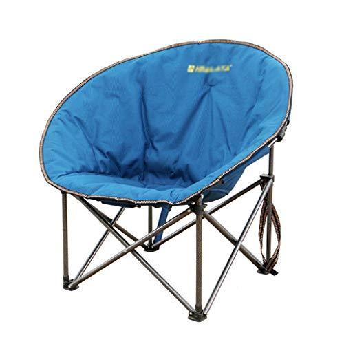 Yunyisujiao Vouwstoel Camping Stoel Lounge Stoel Outdoor Strandstoel Art Sketch Stoel Thuis Tuinstoel Luie Lunch Break Stoel Draagvermogen 150kg (Kleur : BLAUW, Maat : 60 * 60 * 95CM)