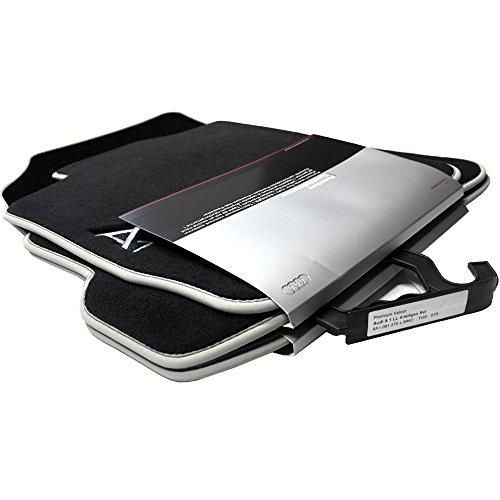 Audi 8X1061270LMNO Textilfußmatte Premium vorne/hinten schwarz/Silbergrau A1/S1 4 Stück