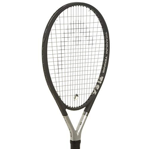 Head Ti S6Raquette de tennis en titane-Gris, Raquette de tennis, noir/gris, L1