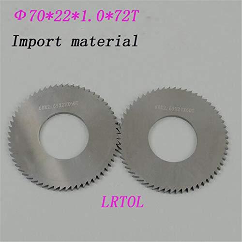2ST 70 mm * 22 mm * 1,0 mm * 72T VHM Sägeblatt Fräser Import Materialbearbeitung Edelstahl