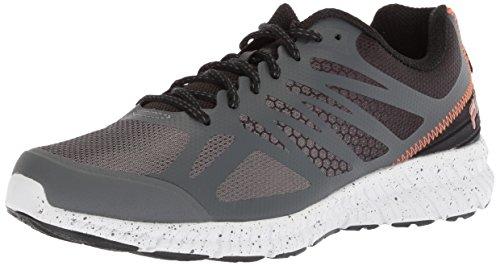 Fila Men's Memory Speedstride Trail Running Shoe, Dark Shadow/Black/Vibrant Orange, 7 Medium US