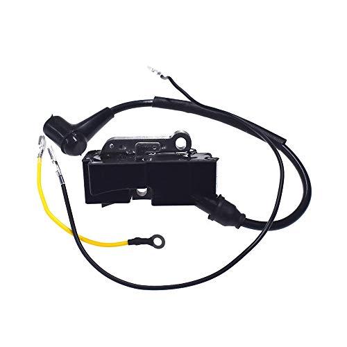 Powerful Tools Módulo de bobina de encendido con alambre para motosierra Husqvarna 350 351 353 357 359 340 345 346 362 365 372