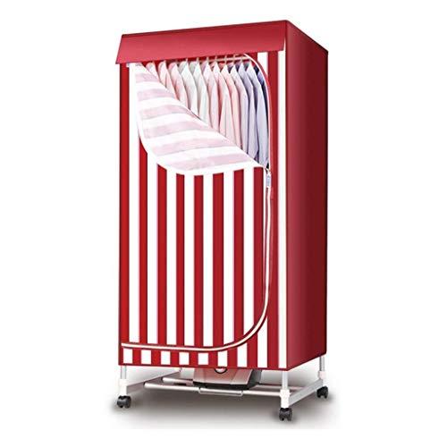 ZDVHM Red Wäschetrockner tragbare 900w 2 Layer Elektrowäscheständer Rahmen 66LB Energy Saving High Efficiency-Modus Baby-Wäschetrockner Kleiderschrank mit Mechanische Zeit und Roller