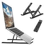 DONYA Soporte Portatil Mesa ABS Laptop Stand 10 Ángulos Ajustable Portátil y Plegable Portátil Computadora de Apoyo Ventilación y Disipación de Calor para Todos Los Portátiles Tabletas